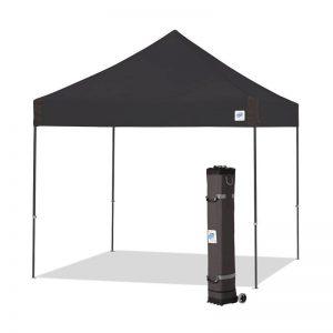 шатра за отдих Vantage™ 3x3м. сгъваема - черна със сива рамка и чанта за транспортиране