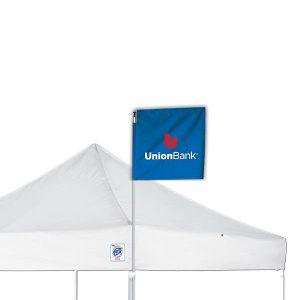 промо флаг за шатри E-Z UP® Corner в 0.6 м x 0.6 м