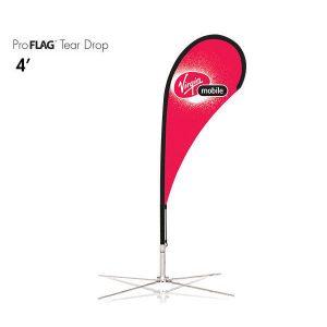 професионален рекламен флаг E-Z UP® Tear Drop 1.2 метра
