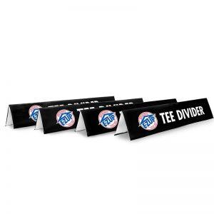 4 броя черни рекламни банери E-Z UP® Tee Divider