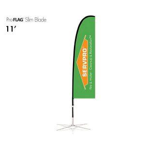 професионален рекламен флаг E-Z UP® Slim Blade 3.4 метра