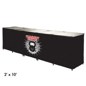 рекламни страници за сгъваеми маси E-Z UP® Instant Table™ 0.6 x 3.0 м.