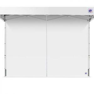 бяла страница за професионални шатри E-Z UP® с цип затворена