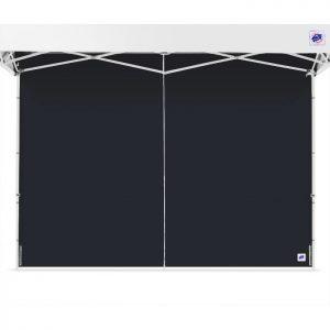 черна страница за професионални шатри E-Z UP® с цип затворена