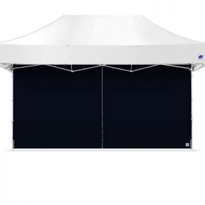 голяма черна страница за професионални шатри E-Z UP® 4.5 м. с цип затворена