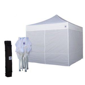 сгъваема шатра за извънредни ситуации с 4 страници - бяла