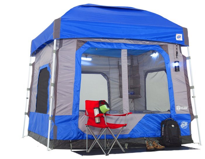 Camping Cube in blue color